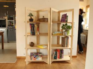 bibliothèque bois design Bretagne