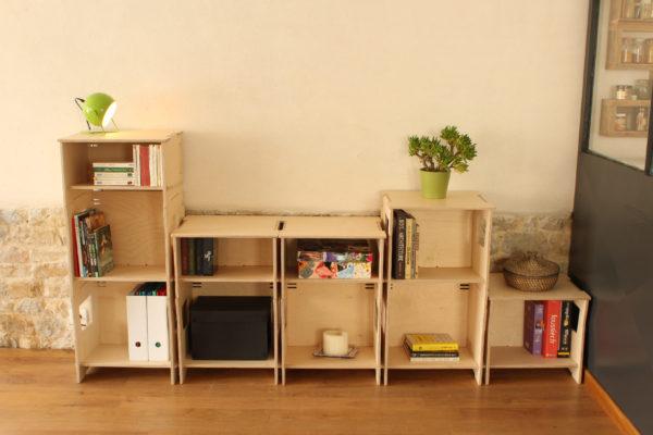 boite compilable bois bureau