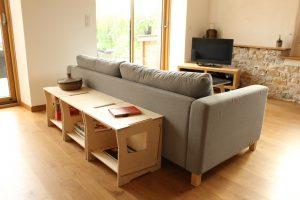 dos canapé enfilade bois