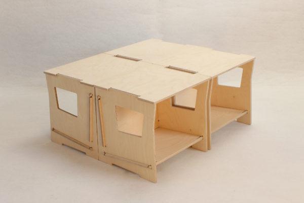 boite table basse bois