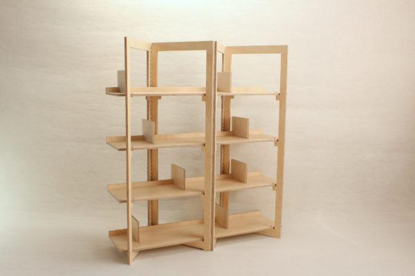 bibliothèque design bois clair