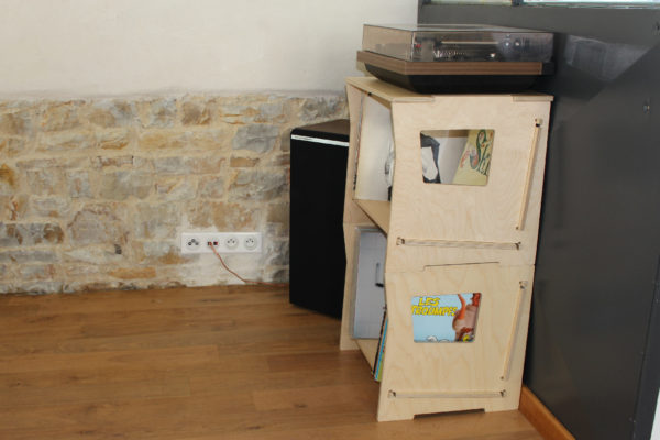 rangement disques vinyles