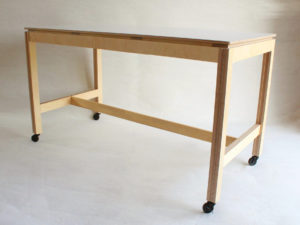 grande table haute bois