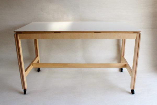 grande table haute stratifie